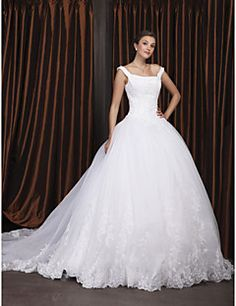 [CyberWeekSale]Wedding Dress Ball Gown Chapel Train Organza ... – USD $ 199.99