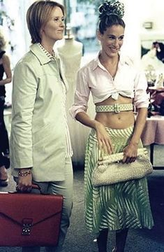 Sex and the City - Carrie Bradshaw (Sarah Jessica Parker) & Miranda Hobbes (Cynthia Nixon)