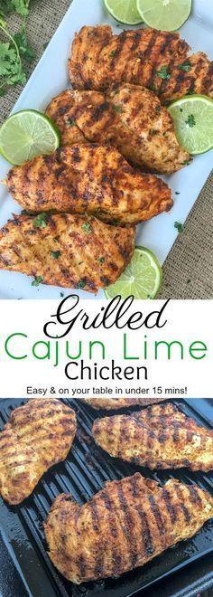 Grilled Cajun Lime Chicken #chickenrecipe