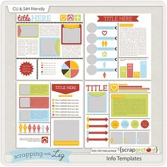 Info Templates by Scrapping with Liz at The Lilypad Photo Album Scrapbooking, Scrapbook Pages, Digital Scrapbooking, Scrapbooking Ideas, Scrapbook Layouts, Project Life Cards, Project 365, Yw In Excellence, Yearbook Layouts