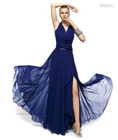 PRONOVIAS BARCELONA 2013 long collection prom dresses robe de soirée bleue