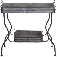 Imax Maggie Galvanized Tray Table #farmhouse