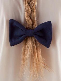 Poly Canvas Bow Hair Clip | Shop American Apparel - StyleSays