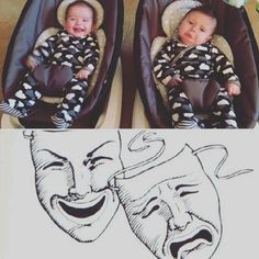 """""""My twins have figured out how to mock me and they can't even roll over yet. I'm toast."""""""