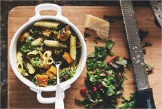 ROASTED BUTTERNUT PENNE WITH PISTACHIO PESTO - SPROUTED KITCHEN - A Tastier Take on Whole Foods