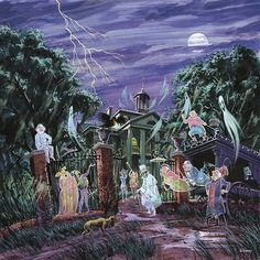 Images from the 1969 Song and Sounds of the Haunted Mansion.