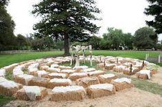 hay bale wedding - Google Search