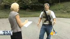 A Tennessee man on Wednesday caused panic as he paced back and forth near a high school in a bulletproof vest with a rifle strapped across his back and a GoPro camera, WSMV-TV reported.  Multiple people called the police when they saw Leonard Embody with a gun near the school, but he was not arrested because he did not walk onto the school grounds. Open carry is legal in Tennessee.