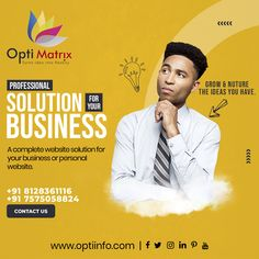 Your business has a unique identity and it should reflect in your website design. This inspired us to shed the one-size-fits-all approach and We come up with multiple website designs that cater to the specific needs of your business. Let us help you build a better website, 🖥️ www.optiinfo.com 📩 info@optiinfo.com 📲 +91 8128361116 / 7575058824 🔗 wa.me/918128361116 #growonline #design #brand #brandingdesign #branding #brandpromotion #onlinemarketing #digitalmarketing #marketing #advertisi Website Design Services, Website Design Company, Website Designs, Online Marketing, Digital Marketing, Branding Design, Logo Design, Brand Promotion, Identity
