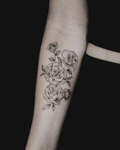 Roses forearm tattoo @stellatxttoo stellatxttoo