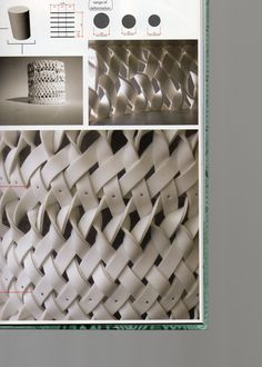 Texilte Tectonics - looking at manipulation of fabric - weaving? Using leather? Very simplistic white Fabric Manipulation Techniques, Weaving Techniques, Leather Weaving, Leather Craft, Fabric Art, Woven Fabric, Paper Weaving, Fabric Weaving, Creative Textiles