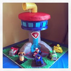 Paw Patrol Look Out Tower Cake on Cake Central
