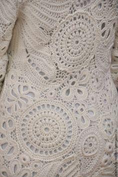"""Верхняя одежда ручной работы. Пальто вязаное """"Очарование"""", пальто демисезонное, для свадьбы. Надежда Тарубарова. Ярмарка Мастеров. Модная одежда"""