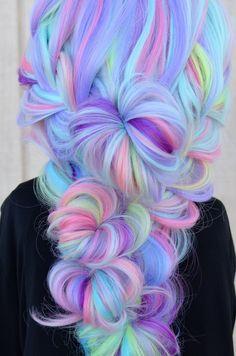 Vivid Hair Color, Cute Hair Colors, Pretty Hair Color, Beautiful Hair Color, Hair Dye Colors, Crazy Hair Colour, Bright Colored Hair, Pastel Hair Colors, Exotic Hair Color