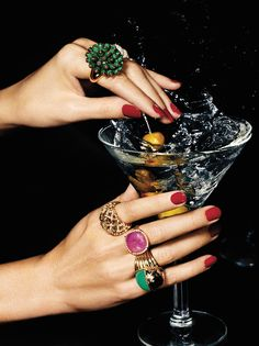 On The Rocks: C Magazine by Baard Lunde | From top: DAVID YURMAN Hampton Cable ring, CARTIER Nouvelle Vague malachite ring