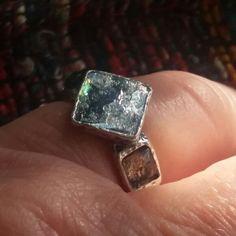 Roman glass ring set with gemstone