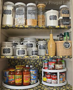 organized pantry...like the lazy susan for the spices!