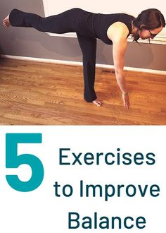 Want to improve your balance? Here are 5 EASY SIMPLE Exercises to Improve Balance! These 5 exercises can be done in 5 minutes! Grab the FREE balance download! Stability Exercises, Balance Exercises, Core Exercises, Thigh Exercises For Women, Big Muscle Training, Post Workout, Workout Plans, Excercise, Exercise Routines