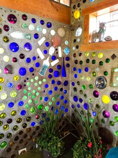 ROMANTIC VACATION GETAWAY | MERMAID COTTAGE Wine Bottle Wall, Bottle House, Wine Bottle Crafts, Glass House, Bottle Art, Garden Deco, Glass Garden, Greenhouse Construction, Jungle House