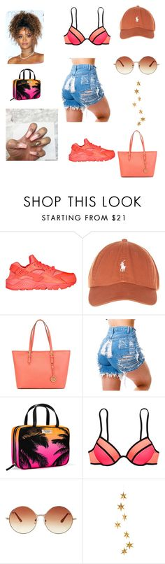 beach flow by botchinab on Polyvore featuring Victoria's Secret, NIKE, MICHAEL Michael Kors, Topshop and Livingly