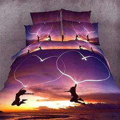 New3D Hearted Pattern   bedding sets HomeTextiles bedclothes sets reactive print duvet cover/ bed sheet/ pillowcaseSJ17