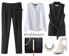 This is a quick office outfit look, you can come up with using some classy pieces, a basic blouse along with a vest or a blazer, some trousers and classy shoes. We regrouped these pieces from some affordable websites to…