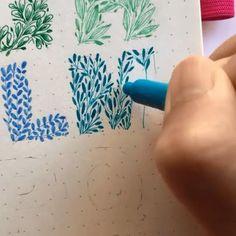 Bullet Journal Lettering Ideas, Bullet Journal Aesthetic, Bullet Journal Writing, Bullet Journal Ideas Pages, Bullet Journal Inspiration, Hand Lettering Alphabet, Cursive Alphabet, Hand Lettering Tutorial, Creative Lettering