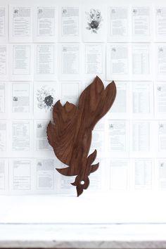 horse chestnut blossom cutting board
