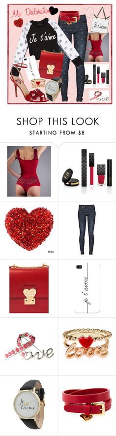 """""""Ma Déclaration d'Amour"""" by drinouchou ❤ liked on Polyvore featuring Gucci, Great Plains, Aime, Valentino, Casetify, Ashley Stewart, Monsoon and Olivia Pratt"""