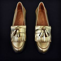 Go for gold! schuh Compass leather loafers land in June  schuhpr Going For  Gold 1be197fae