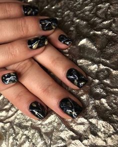 Marble No Chip 🖤⠀ Nails B No Chip Nails, Blush Nails, Salons, Marble, Chips, Spa, Beauty, Instagram, Lounges