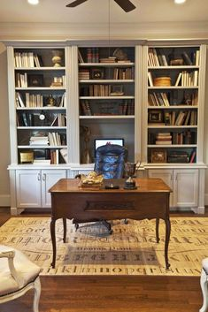 My French Study - Part I - Cedar Hill Farmhouse Bookcase Country Office, Cedar Hill Farmhouse, Bookcase Styling, Interior Design Elements, Traditional Doors, Antique Cabinets, French Country Style, Belgian Style, European Style