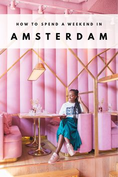 Millennial Pink restaurant Mama Kelly in Amsterdam - Planning yet another Amsterdam visit? I've listed 5 things to see and do, if you've already ticked the essentials off your list. Amsterdam Trip, Amsterdam Travel Guide, Amsterdam Food, Amsterdam Things To Do In, Amsterdam Fashion, Pink Restaurant, Amsterdam Restaurant, Modern Restaurant, Medan