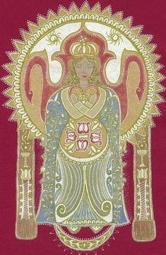 Hungarian - Our Lady of the Assumption Mother - Boldogasszony Anyánk… Nagyboldogasszony (Kolozsvári - Donkó Rebeka képe) Tantra, Our Lady, Deities, Hungary, Madonna, Mythology, Mandala, Art Pieces, Wings
