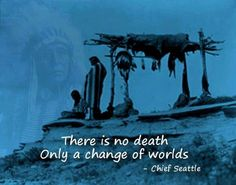 There is no death, only a change of worlds. - Chief Seattle Native American Quotes On Death Native american quote: Native American Spirituality, Native American Wisdom, Native American History, American Indians, Cherokee History, Cherokee Indians, Chef Seattle, Quotes Wolf, American Indian Quotes