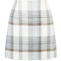 Cream Check Mini Skirt ($17) ❤ liked on Polyvore featuring skirts, mini skirts, bottoms, checkerboard skirt, cream skirt, white short skirt, patterned skirts and short skirts