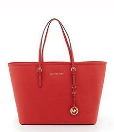 8f109d78647a7f MICHAEL Michael Kors Medium Leather Travel Tote | Dillard's Mobile Latest  Handbags, Michael Kors Jet