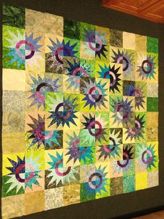 2012 Kingfisher raffle quilt, design by Judy Niemeyer ... great colors!