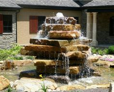 Garden Fountains Stone Diy backyard ideas inspiring and simple water fountain designs stacked stone fountain design ideas pictures remodel and decor workwithnaturefo