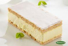 Yammy Napoleonskake Vanilla Cake, Cheesecake, Desserts, Food, Tailgate Desserts, Deserts, Cheese Pies, Cheesecakes, Meals