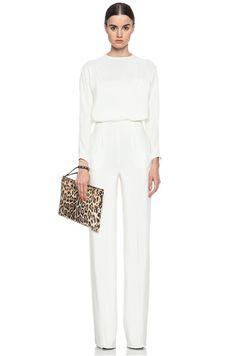 Silk White Jumpsuit | Fashion Ql