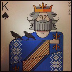 King of Spades / Odin (Óðinn). Icelandair playing cards. - @James Barnes Estes- #webstagram