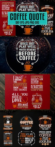 Typographic Design, Coffee Quotes, My Job, Coffee Drinks, Graphic Prints, Instagram Feed, This Or That Questions, Graphic Art Prints, Typography Design