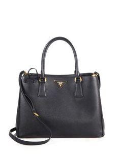 09e8fbe04df3 Prada - Saffiano Cuir Medium Double Bag - Saks.com Prada Saffiano