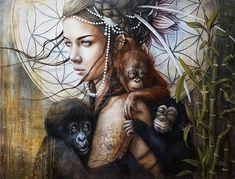 Le refuge by Sophie Wilkins Realism Artists, Surreal Artwork, Fantasy Portraits, Modern Portraits, Magic Realism, Inspiration Art, Art Et Illustration, Face Art, Beautiful Artwork