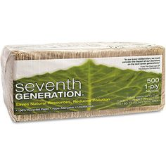 Seventh Generation 100 Percent  Recycled One-Ply Natural Luncheon Napkins, 500pk #WalmartGreen