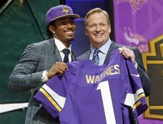 2015 NFL draft, Pick 11: The Minnesota Vikings went defense with the No. 11 pick and got the best cornerback in the draft in Michigan State's Trae Waynes. The Michigan State corner had a productive college run and solidified his spot as the draft's top cornerback by running the second-fastest 40-yard dash time (4.31) at the NFL combine. Waynes has good length (6-0, 186 pounds) and is accomplished in man-to-man coverage. (AP Photo/Charles Rex Arbogast)