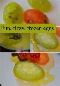 Fun, fizzy, frozen eggs #Bakingsoda #ScienceforKids