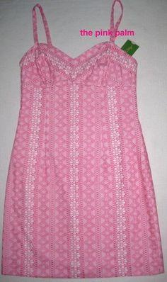 LILLY PULITZER Nitaya 4 PB PINK Daisy Stripe Lace RARE SAMPLE Dress NWT 4 #LillyPulitzer #Sundress #Casual