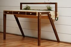 The Senescent Desk by Love Hultén - grow stuff in your desk!